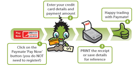 how to make a payment with paymate